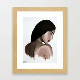 Stop Looking Back Framed Art Print