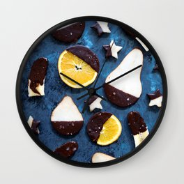 fruits dipped in chocolate Wall Clock