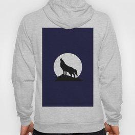Howling Moon Wolf Hoody