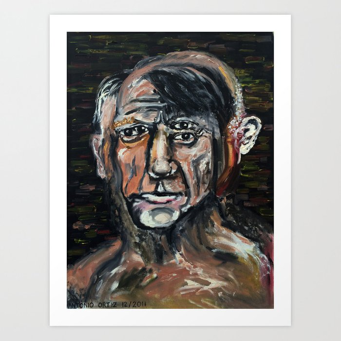 Perverted Little Man (Pablo Picasso, oil on canvas) Art Print
