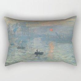 Claude Monet's Impression, Soleil Levant Rectangular Pillow