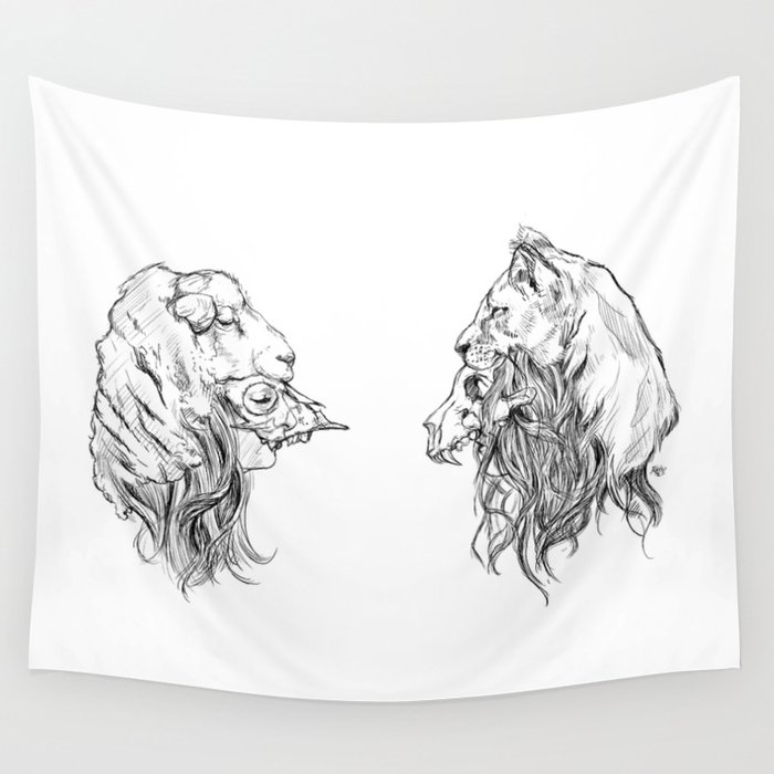 The Lion and The Lamb Wall Tapestry