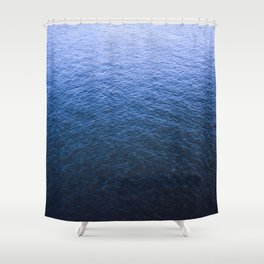 Blue Elbe Shower Curtain