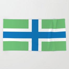 Gloucestershire county flag England region symbol severn cross Beach Towel