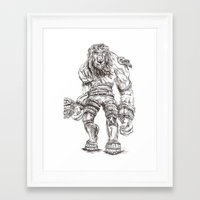 shadow of the colossus Framed Art Prints featuring Minotaur from Shadow of the Colossus by Melissa Ou