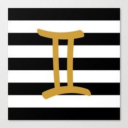 Gemini Stripes Canvas Print