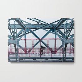 Crossing the Williamsburg Bridge Metal Print