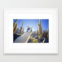 lama Framed Art Prints featuring Lama by Benedikt Saxler