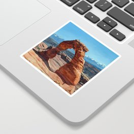 delicate arch Sticker
