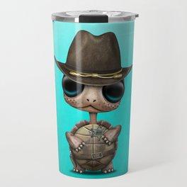 Cute Baby Turtle Sheriff Travel Mug