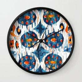 Balinese Pattern 02 Wall Clock