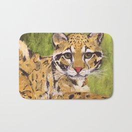 Clouded Leopard Bath Mat