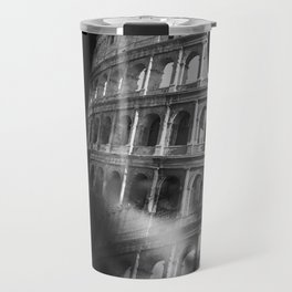 Coliseum. Double exposure portrait Travel Mug