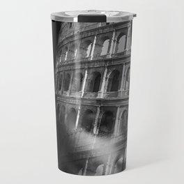 Coliseum. Double exposure portrait Travel Mug