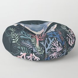Whales and Coral Floor Pillow