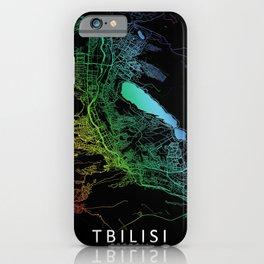 Tbilisi, Georgia, City, Map, Rainbow, Map, Art, Print iPhone Case