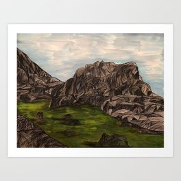 Mountains to Conquer Art Print