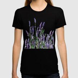 lavender watercolor horizontal T-shirt