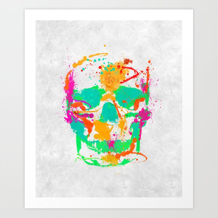 Dead Color Skull Art Print