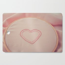 Heart Embroidery Cutting Board