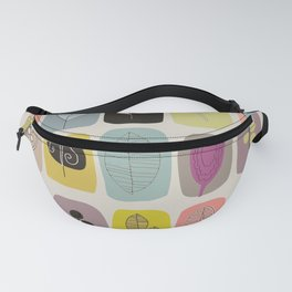 Retro Leaves Parade Fanny Pack