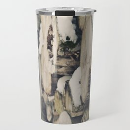 Logs snow Travel Mug