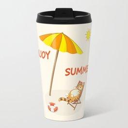 enjoy sunny summer Travel Mug