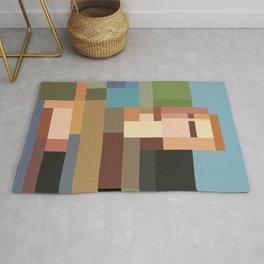 Minimalist Mona Lisa Rug