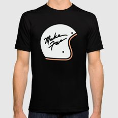 Make Fun Moto Helmet MEDIUM Black Mens Fitted Tee