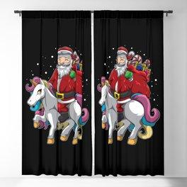 Santa Claus is Riding a Unicorn - Mythical Xmas Blackout Curtain