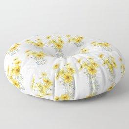 Yellow Cosmos, Still Life Floor Pillow