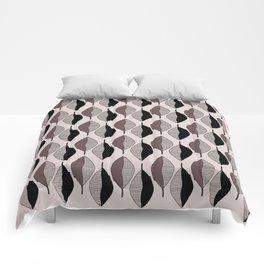 Mauve & black leaves Comforters