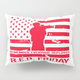 RED Friday Pillow Sham