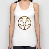 anonymous Tank Tops featuring Anonymous by Spooky Dooky