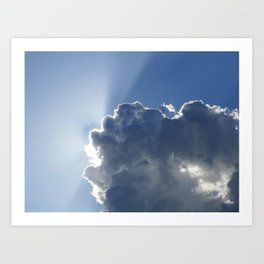 Sun Breaking Through Clouds Art Print