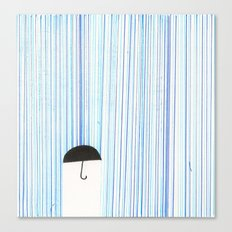 Mr. Invisible Doesn't Like Rain... Canvas Print
