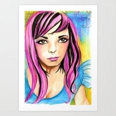 Audacious Audrey Art Print