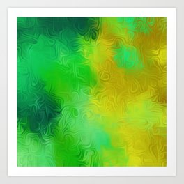 green and yellow painting texture abstract background Art Print