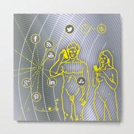 B-SIDE Metal Print