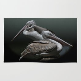 Juxtaposition - Pink-Backed Pelicans Rug