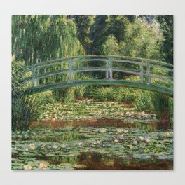 Monet - The Japanese Footbridge and the Water Lily Pool Canvas Print