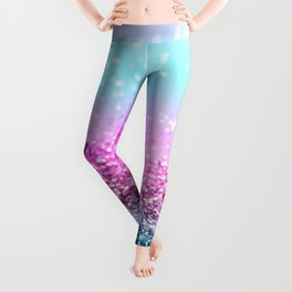 Unicorn Girls Glitter #16 #shiny #decor #art #society6 Leggings