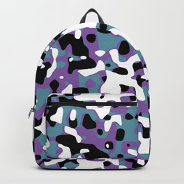 Uncovered Camouflage Purple And Turquoise Backpack