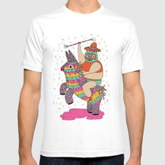 Pinata Party White Mens Fitted Tee MEDIUM