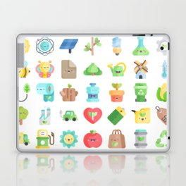 CUTE GREEN / ECO / RECYCLE PATTERN Laptop & iPad Skin