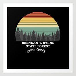 Brendan T. Byrne State Forest New Jersey Art Print