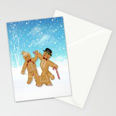 Gingerbread Family Winter Fun Stationery Cards