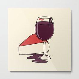 Wine & Cheese Metal Print