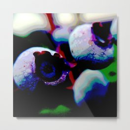 Solarized Blueberries Metal Print