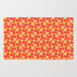 Patterns: Yellow Frogs Rug